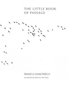 Franca Mancinelli Little Book of Passage